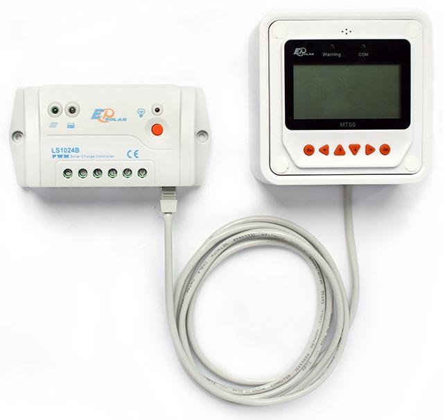 Controlador de Carga Solar LS1024B e o Medidor Remoto MT50